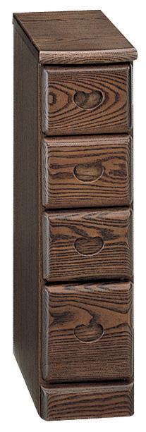 リリー チェスト 無垢 ブラウン シンプル引き出し ベーシック 三つ葉楽器 コンパクト 木目 日本製 送料無料