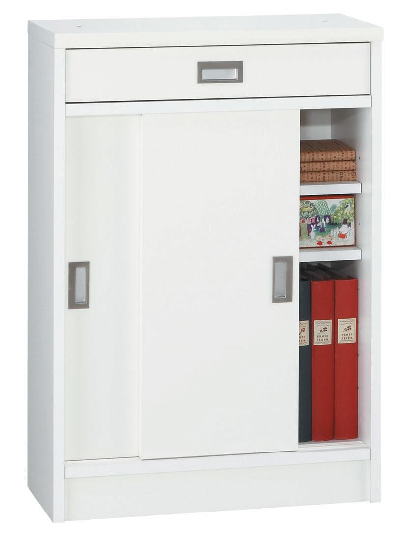 シリウス60 カウンター下収納 食器棚 カップボード すきま収納 小型コンパクト収納 三つ葉楽器 ホワイト シンプルベーシックスタンダード キッチンキャビネット 日本製 送料無料
