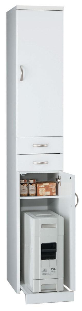 スリムボード30cm幅 お米収納 食品庫 すきま収納 小型コンパクト収納 三つ葉楽器 ホワイト キッチンキャビネット スリム収納 米びつ ライサー