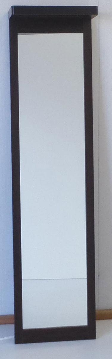 ライトミラー 姿見 鏡 ライト付き 三つ葉楽器 ダークブラウン