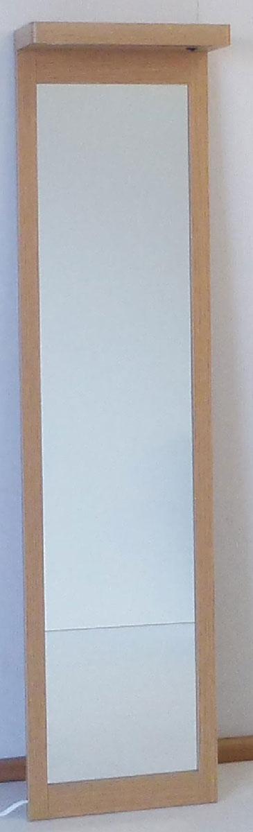 ライトミラー 姿見 鏡 ライト付き 三つ葉楽器 ナチュラル