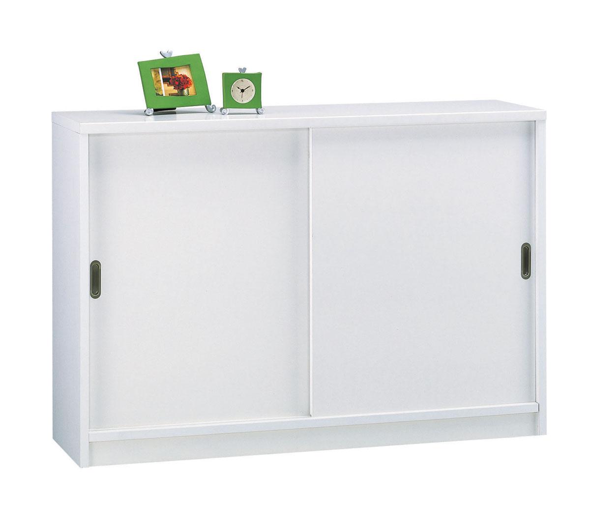 サクラ120 カウンター下収納 引き戸 食器棚 カップボード すきま収納 小型コンパクト収納 三つ葉楽器 ホワイト 食品収納 キッチンキャビネット 本棚 送料無料 日本製