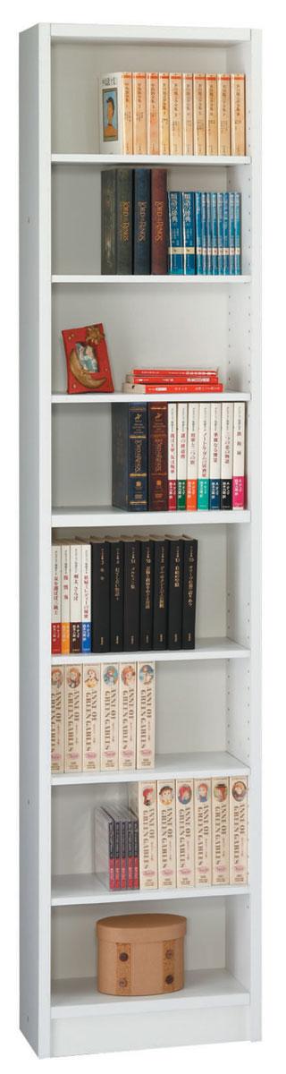 エッセ 40オープン薄型書棚 本棚 スリムブックシェルフ シェルフ 三つ葉楽器 ホワイト オープン収納 日本製 送料無料