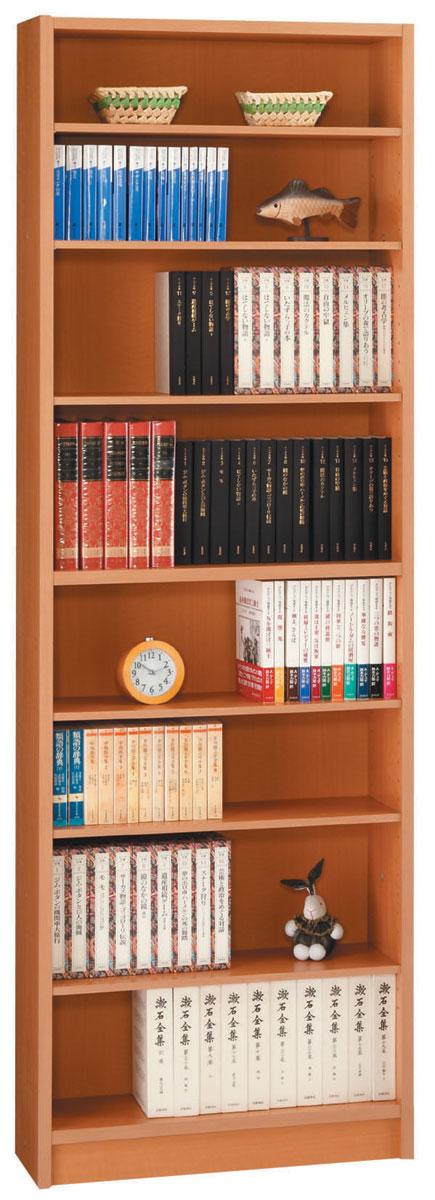 エッセ 60オープン薄型書棚 本棚 スリムブックシェルフ シェルフ 三つ葉楽器 メープル オープン収納 日本製 送料無料