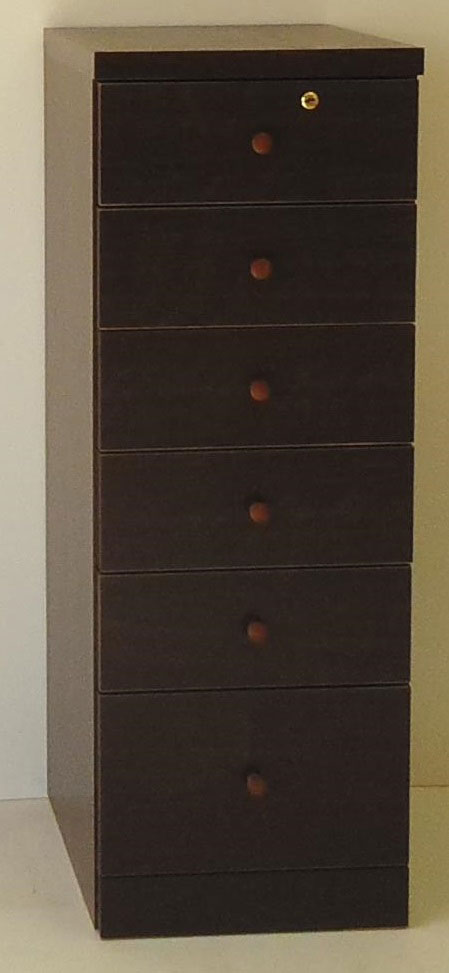 フィット チェスト 引き出し 三つ葉楽器 ダークブラウン コンパクト収納 A4サイズ 書類ケース 送料無料 日本製