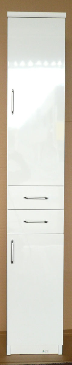 【30cm幅】すきま収納 小型コンパクト収納 三つ葉楽器 スリムキャビネット キッチンキャビネット 洗面所収納 耐震ラッチ付き ホワイト フェアリー 日本製 送料無料