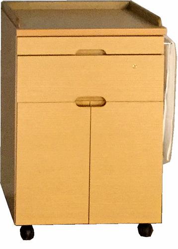 クローバーA(両開きトビラ)ベッドサイドキャビネット ナイトテーブル ナチュラル ダークブラウン 鍵付き キャスター付き タオル掛け シンプル ベーシック 三つ葉楽器 日本製 送料無料
