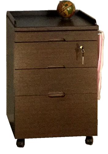 クローバーB(引出)ベッドサイドキャビネット ナイトテーブル ナチュラル ダークブラウン 鍵付き キャスター付き タオル掛け シンプル ベーシック 三つ葉楽器 日本製 送料無料