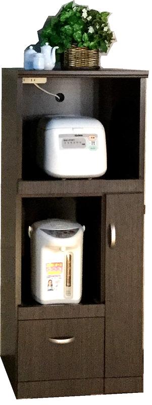 ライサーレンジボード480幅 お米収納 食品庫 すきま収納 小型コンパクト収納 三つ葉楽器 ホワイト キッチンキャビネット スリム収納 米びつ ライサー送料無料 日本製