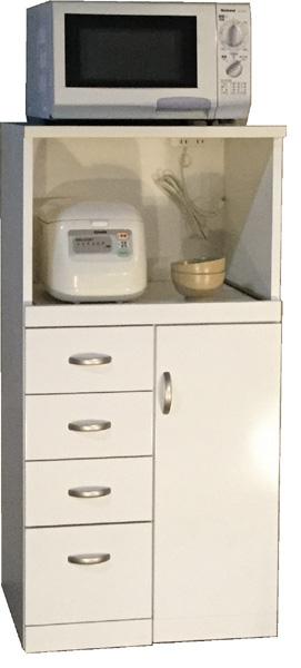 ライサーレンジボード600幅 お米収納 食品庫 すきま収納 小型コンパクト収納 三つ葉楽器 ホワイト キッチンキャビネット スリム収納 米びつ ライサー送料無料 日本製