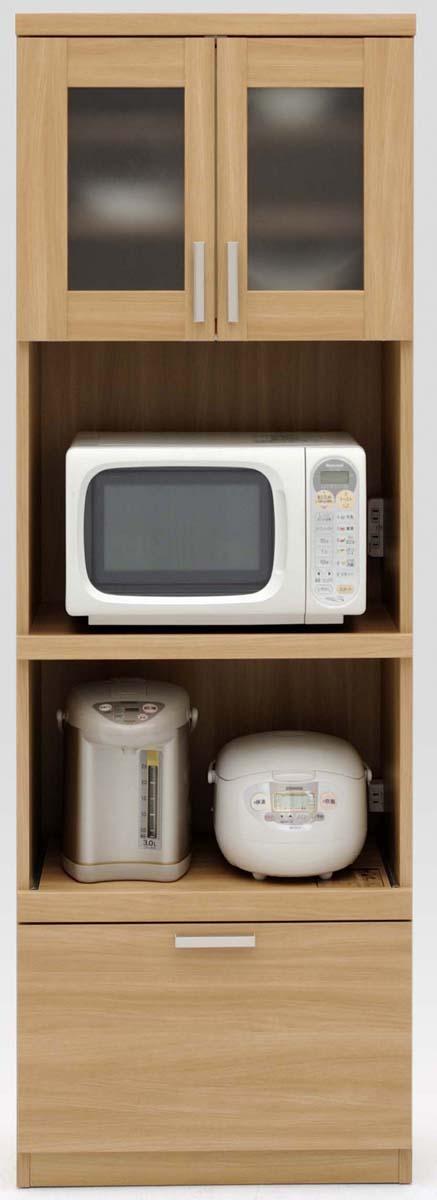 【3色】ルーナ 60Kダイニングボード 食器棚 カップボード 収納カップボード コンパクト ガラス開き戸 カントリーナチュラル 共和KYOWA 日本製家具 送料無料
