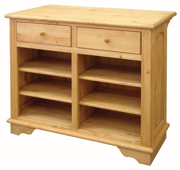アイロスジャパン A016 食器棚 105サイズ ダイニングカウンター ナチュラル アイランドカウンター 間仕切り 引き出し パイン材 木製無垢木目 送料無料 完成品