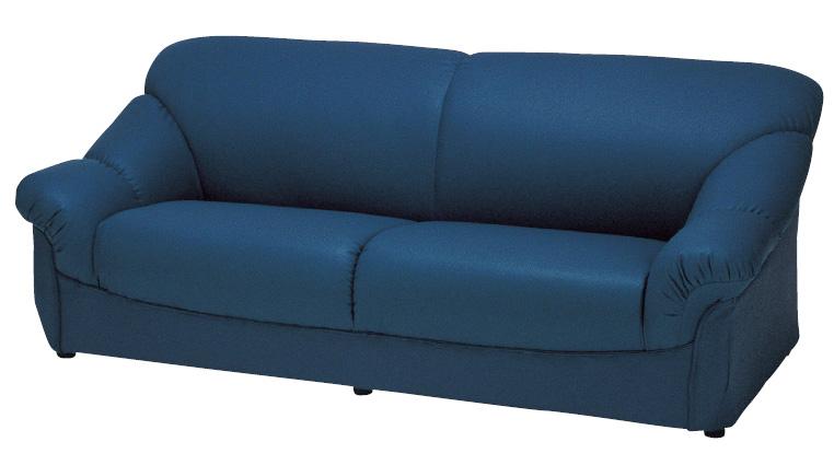 N-ボレロ 20色対応ソフトレザー 3Pチェアー トリプルソファ 三人掛け椅子 送料無料 日本製 マルセ椅子