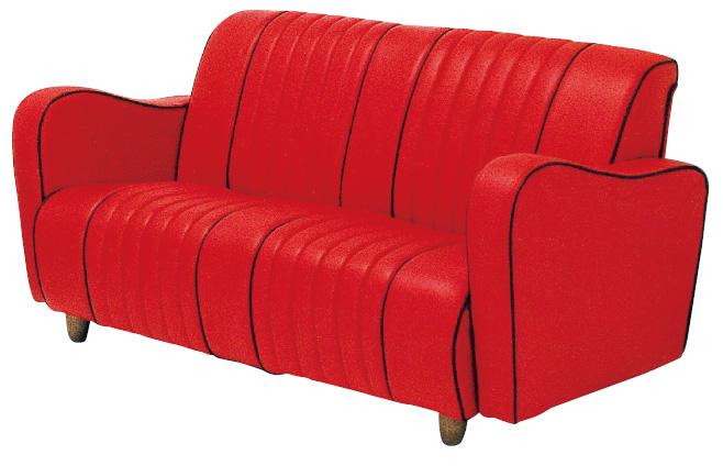 N-マジック 20色対応ソフトレザー 3Pチェアー トリプルソファ アメリカンロックンロール風 三人掛け椅子 送料無料 日本製 マルセ椅子