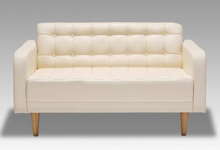 シャロ 27色対応ソフトレザー 2Pチェアー ラブソファ 2人掛け 二人掛け椅子 送料無料 日本製 マルセ椅子