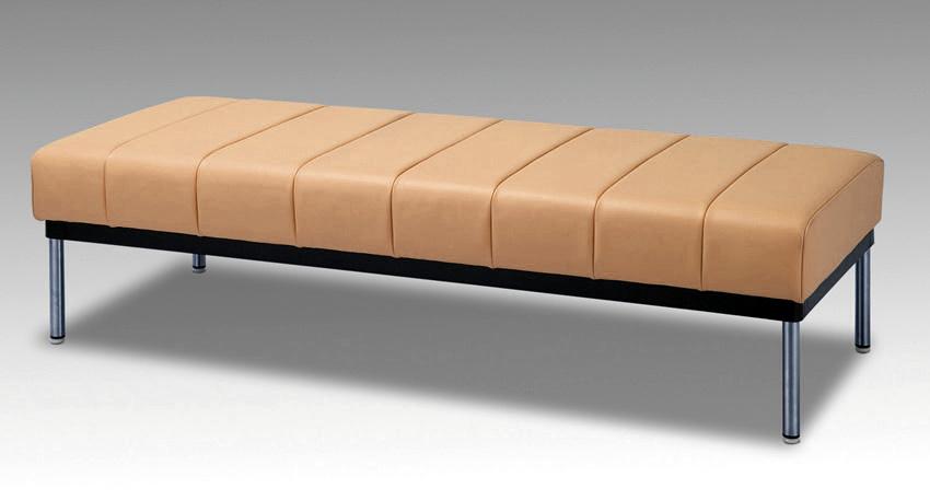 イコイ 180サイズ 待合室ベンチチェアー 業務用風 オープン 20色対応合成皮革レザー レトロ 送料無料 日本製 マルセ椅子