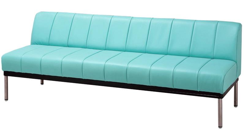 イコイ 背付180サイズ 待合室ベンチチェアー 業務用風 オープン 20色対応合成皮革レザー レトロ 送料無料 日本製 マルセ椅子