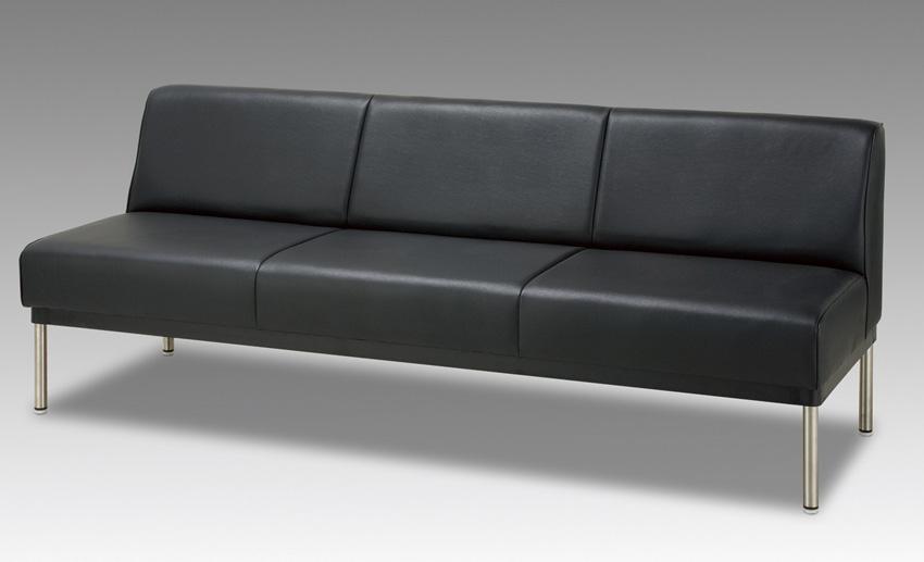 ヤスラギ 背付150サイズ 待合室ベンチチェアー 業務用風 オープン 20色対応合成皮革レザー レトロ 送料無料 日本製 マルセ椅子