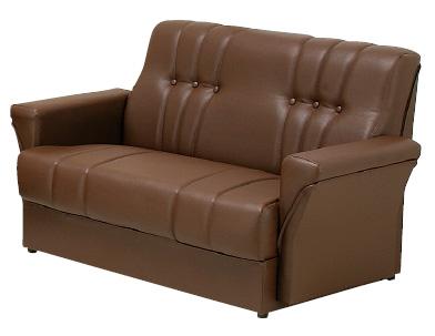 リース 20色対応PVCレザー 2Pチェアー 合成皮革 ラブソファ 二人掛け椅子 送料無料 日本製 マルセ椅子