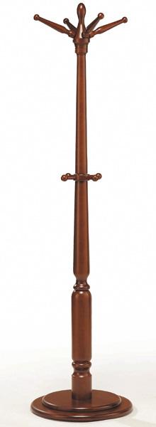 PS-1010DBポールスタンド コートハンガー 木製 ダーク 帽子掛け ポールハンガー ハンガーラック アケボノ 送料無料