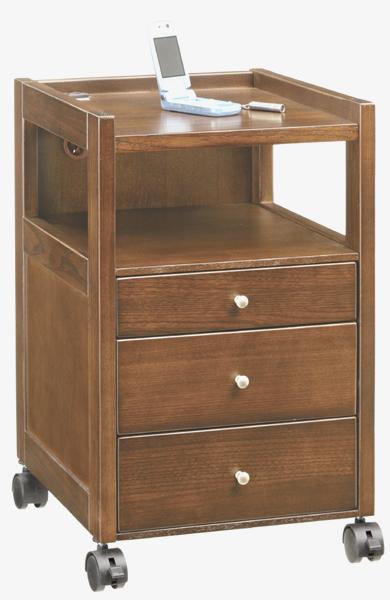 アケボノ NT-85DO ナイトテーブル ダークブラウン色 サイドテーブル ベッドテーブル キャスター付き 送料無料