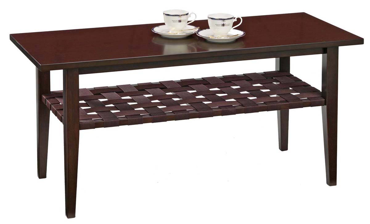 アケボノ レックス3152DO センターテーブル 机 シンプル コンパクト ブラウン テーブル