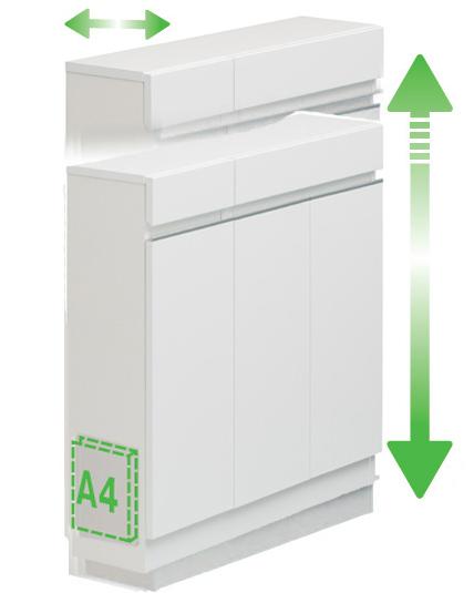 【オーダー】CSP-T90カウンター下収納 食器棚 カップボード すきま収納 小型コンパクト収納 すきまくんフジイ シンプルベーシックスタンダード キッチンキャビネット 日本製家具 送料無料