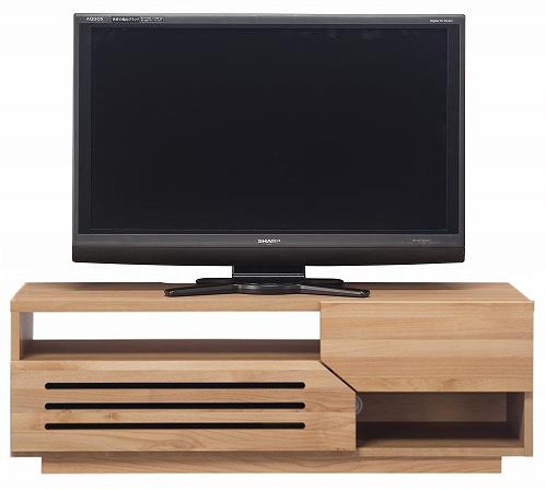 MONO120cm幅 ローボード シンプル TVボード テレビ台 ベーシック 送料無料 天然木アルダー材(おしゃれ ナチュラル 収納 完成品 棚 収納家具)送料込み