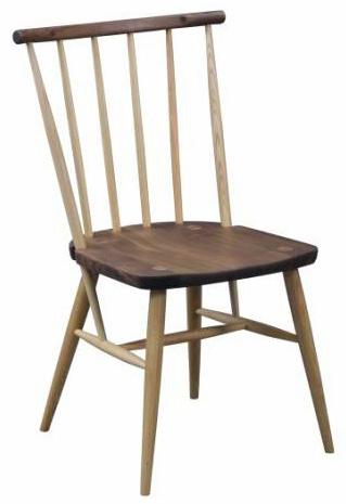 ミルフィーユ ダイニングチェア 食卓椅子ナチュラル天然木使用 ウォールナット ニレ材 ウィンザーチェア風 格子状食卓 北欧木製無垢 2トーン 細い シャープスレンダー 送料無料