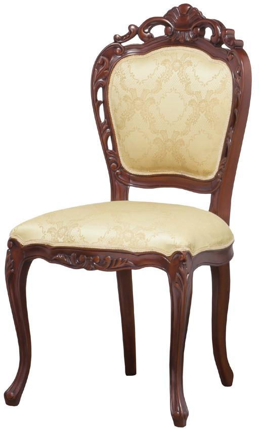 フランシスカ 肘無し椅子 クラシックスタイル ダイニングチェアとしても アンティークブラウン ヨーロッパモダン イス