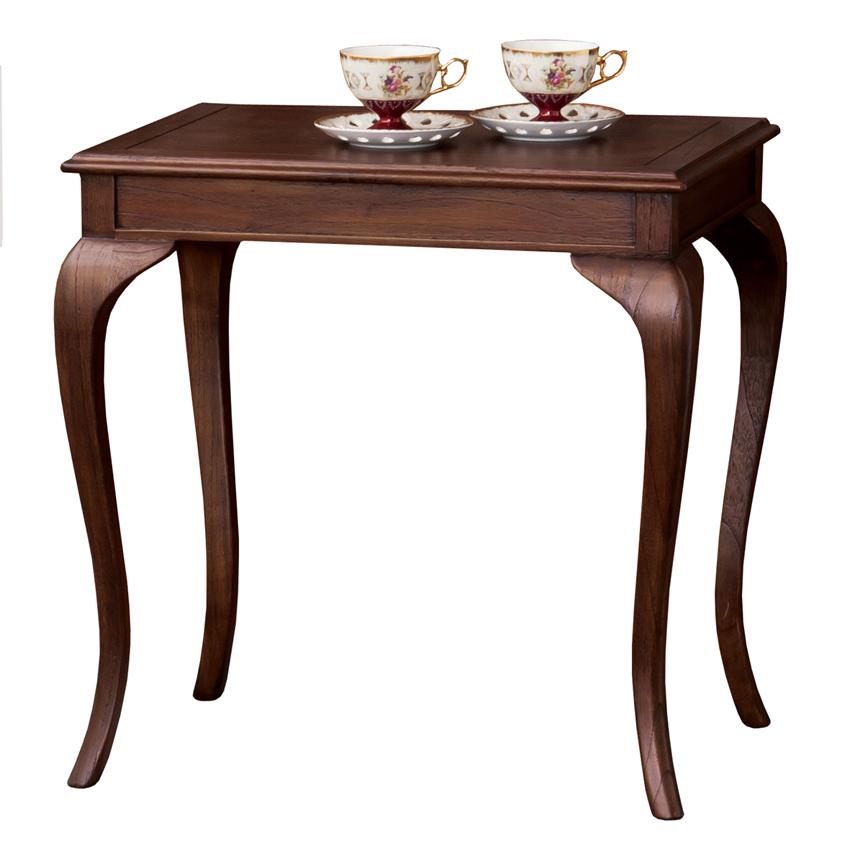 ウェール コーヒーテーブル クラシックスタイル サイドテーブル アンティークブラウン ヨーロッパモダン クロシオ