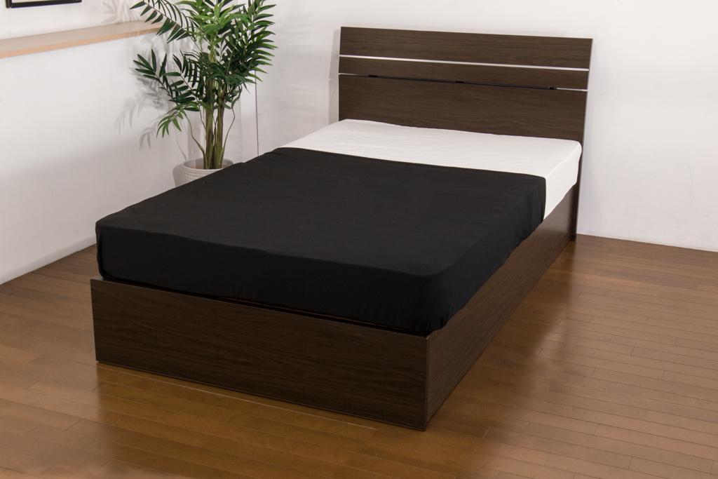お買い得【309】リゾートホテル調パネルベッド シングル ドロアー 木部 ベッド下収納 おすすめ 送料無料 日本製家具 フレームのみ