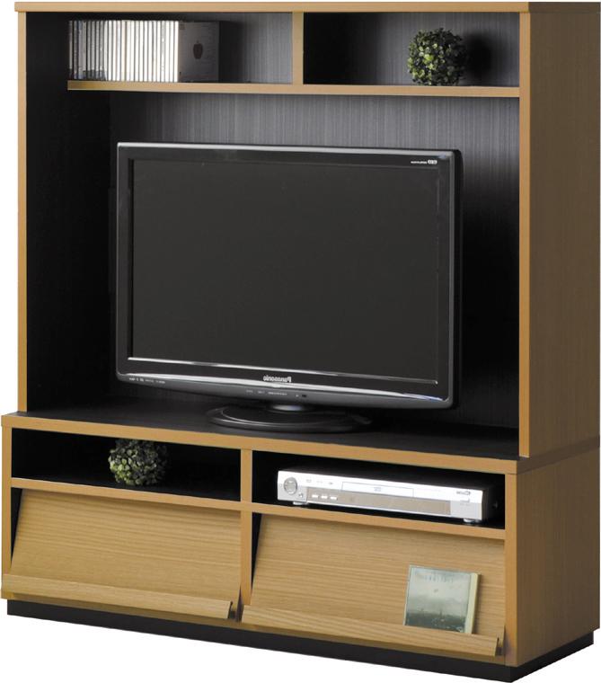 【2色】 開き戸壁面収納テレビ台 日本製 ベーシック シンプル テレビ台 フリアン105TVボード ハイタイプ 送料無料 ナチュラル ブラウン
