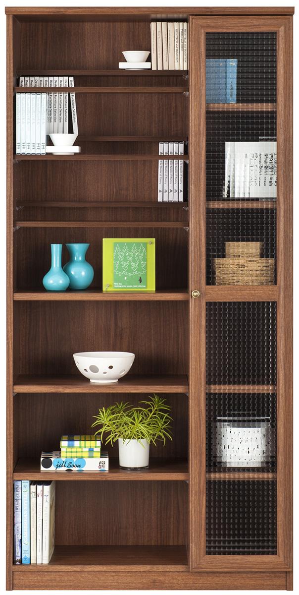 カウント ブックスライド書棚 幅89cmカラーボックス本棚 本棚 書棚 木製 完成品 日本製 廊下収納 キッズ コミック CD・DVDラック 送料無料 YUAI