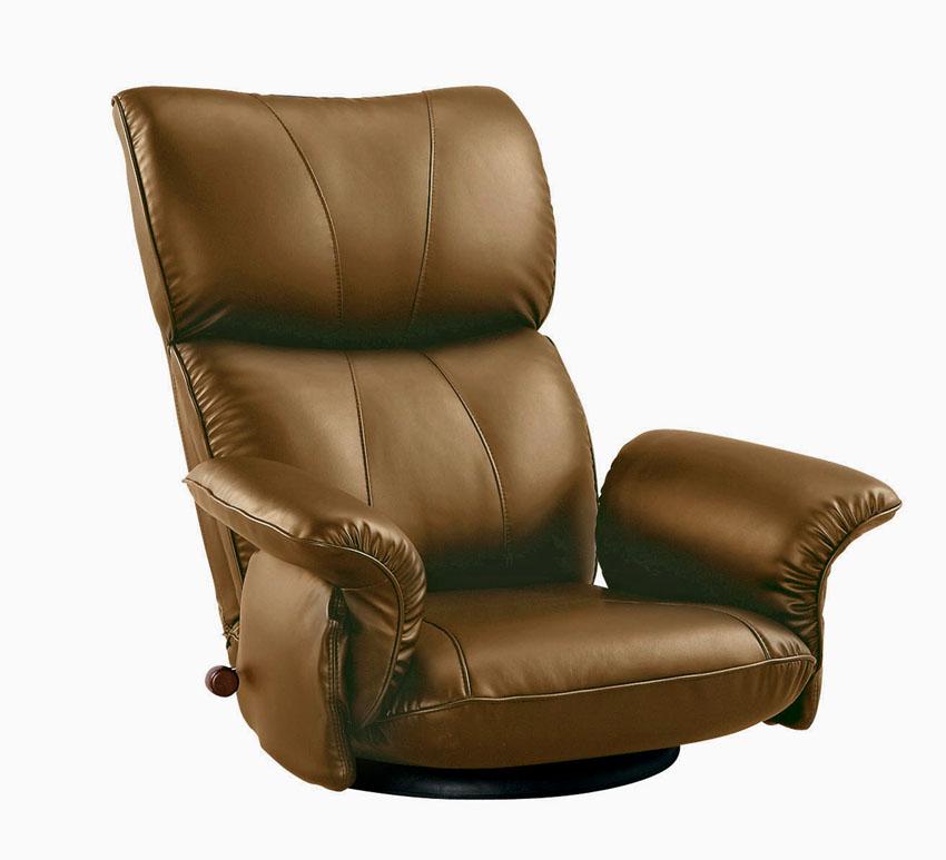 肘付き合成皮革座椅子 匠たくみ YS-P1396HR 高齢者用家具 ソフトレザー リクライニングチェア ハイバック 送料無料 日本製 ミヤタケ