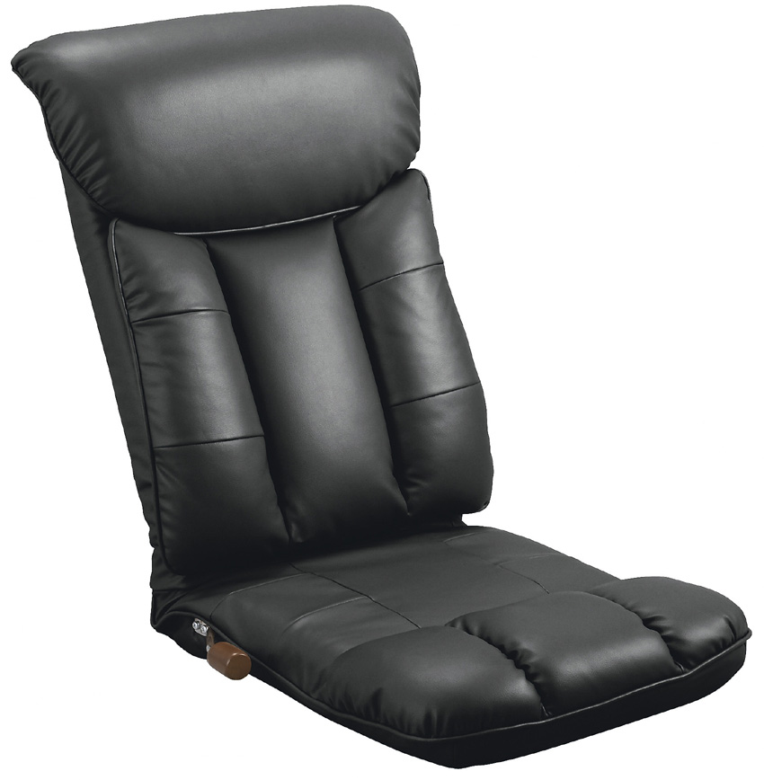 合成皮革座椅子 彩いろどり YS-1310コタツに最適 高齢者用家具 ソフトレザー リクライニングチェア ハイバック 送料無料 日本製 ミヤタケ