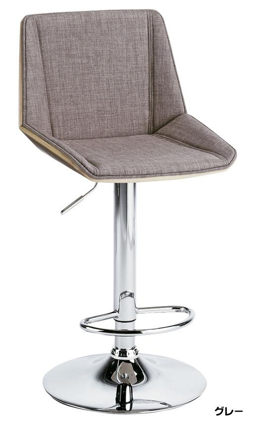 KNC-J1978カウンターチェア バーチェア 高さ調整式 スチール回転式 1人肘掛け椅子 布張りファブリック ガス圧シリンダー上下昇降 送料無料 家具 単品・バラ売り ミヤタケ