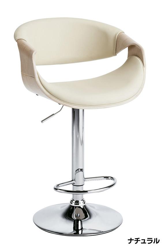 KNC-J1996カウンターチェア バーチェア 高さ調整式 スチール回転式 1人肘掛け椅子 合成皮革 ガス圧シリンダー上下昇降 送料無料 家具 単品・バラ売り ミヤタケ