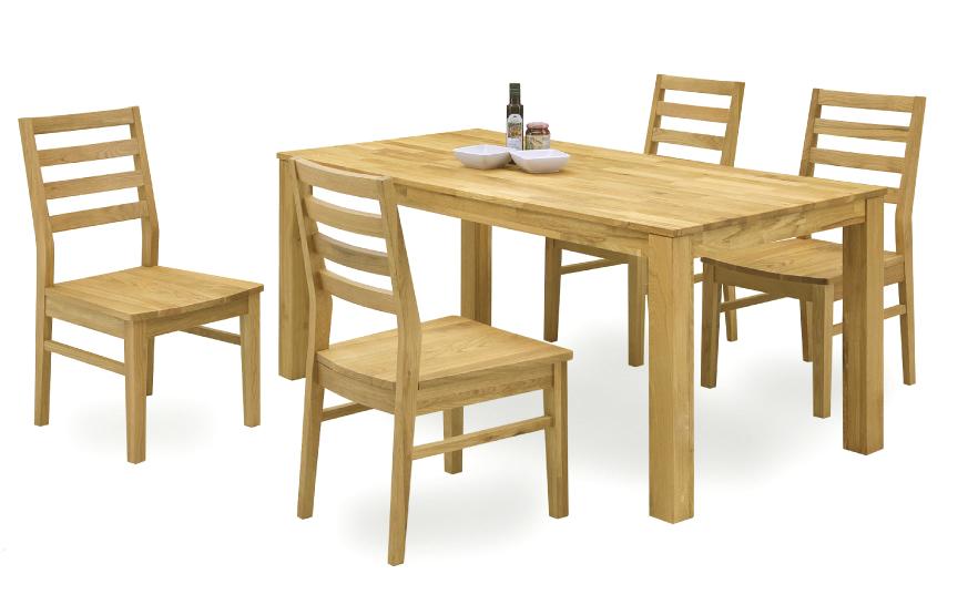 【オーズ】ナチュラル天然木使用 ダイニング5点セット オーク材・ナラ食卓 木製無垢 送料無料