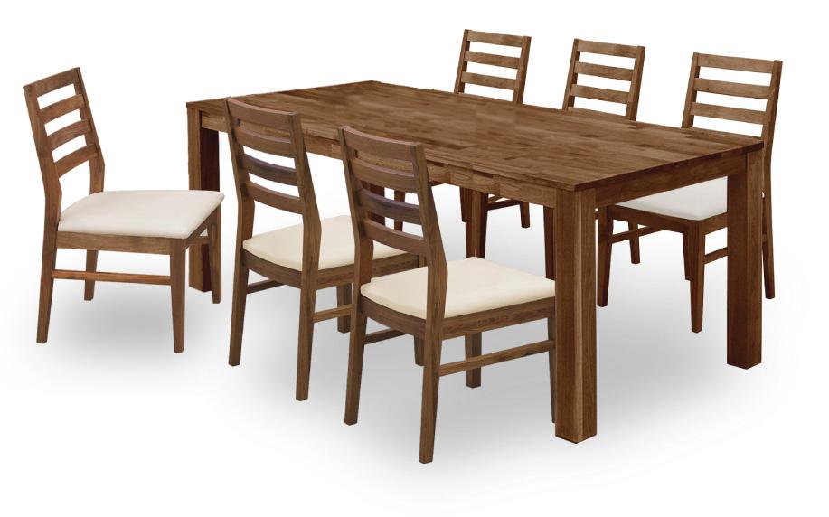 【オーズ】ナチュラル天然木使用 ダイニング7点セット オーク材・ナラ食卓 木製無垢 送料無料