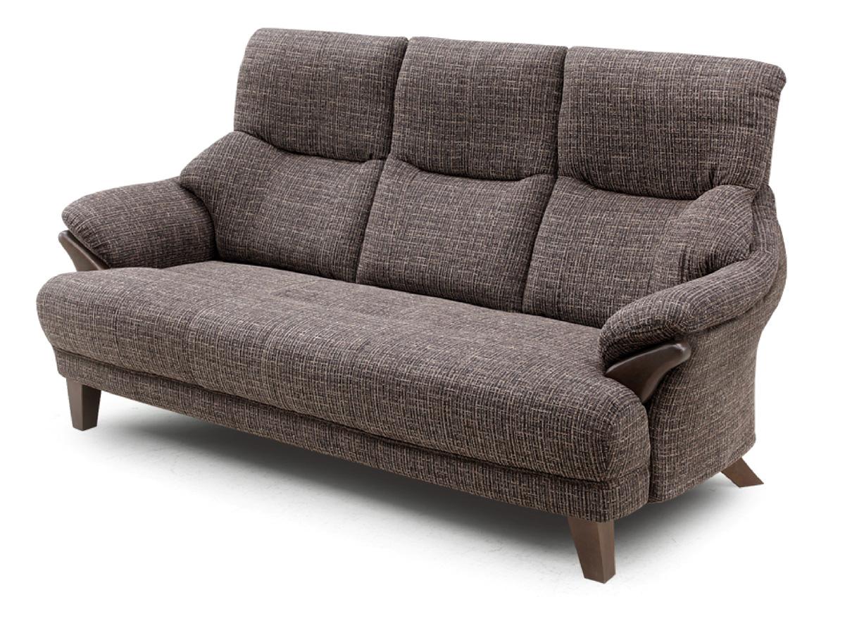 テノール トリプルソファ 3Pソファ 三人掛け椅子 ハイバック 布 ファブリック バケットタイプ 送料無料