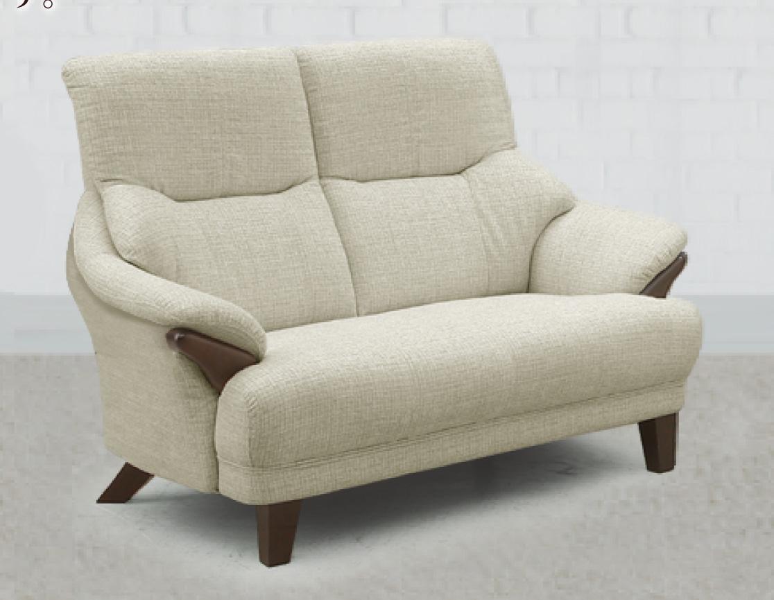 テノール ラブソファ 2Pソファ 二人掛け椅子 ハイバック 布 ファブリック バケットタイプ 送料無料