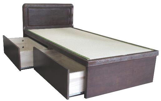 アンネルベッド ヤマト大和 引き出しつき ドロアー フラット 省スペース シングル シンプル タタミベッド たたみ 高級畳ベッド 和風家具 浮造り ベッド下収納
