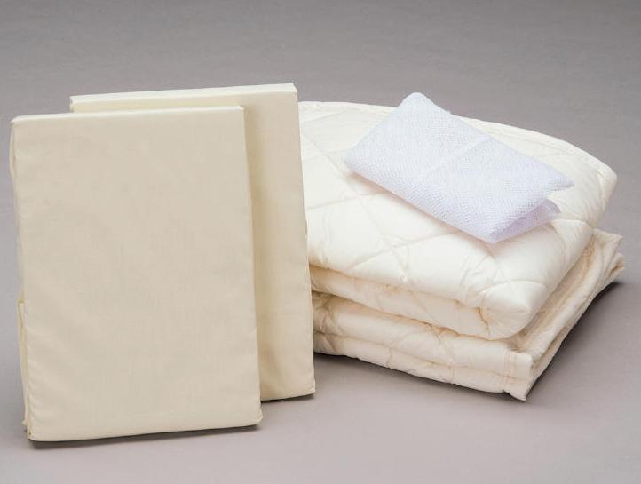 アンネルベッド 丸洗いベッドメーキング4点セット ワイドダブル ベッドパッド&シーツ2枚 オススメ布団カバーセット マットレスカバー 送料無料