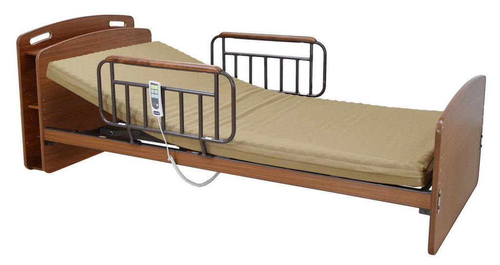 寝心地や使い心地の良さにも配慮した電動ベッド アンネルベッド ラクセーヌST910CT 2モーター キャビネット 棚付き シングル つかまり取っ手 電動ベッド 電動リクライニング 手すり付き 介護としても annel bed・設置込み 在宅ケア自立支援 電動専用マットレス付き