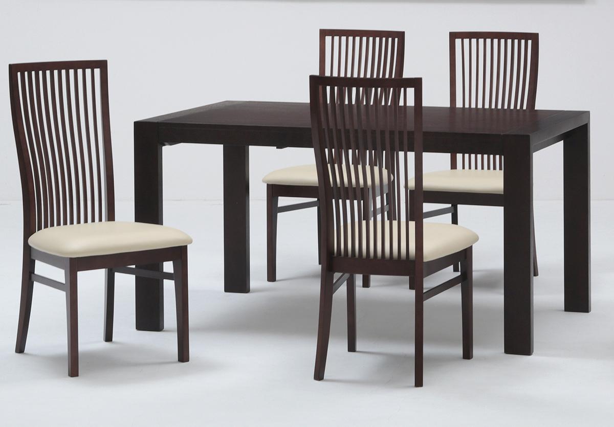 【ZENシリーズ】ダイニング5点セット 伸長式テーブル エクステンション ナチュラル 食卓セット シンプル 布張り・ファブリック ミキモク 送料無料