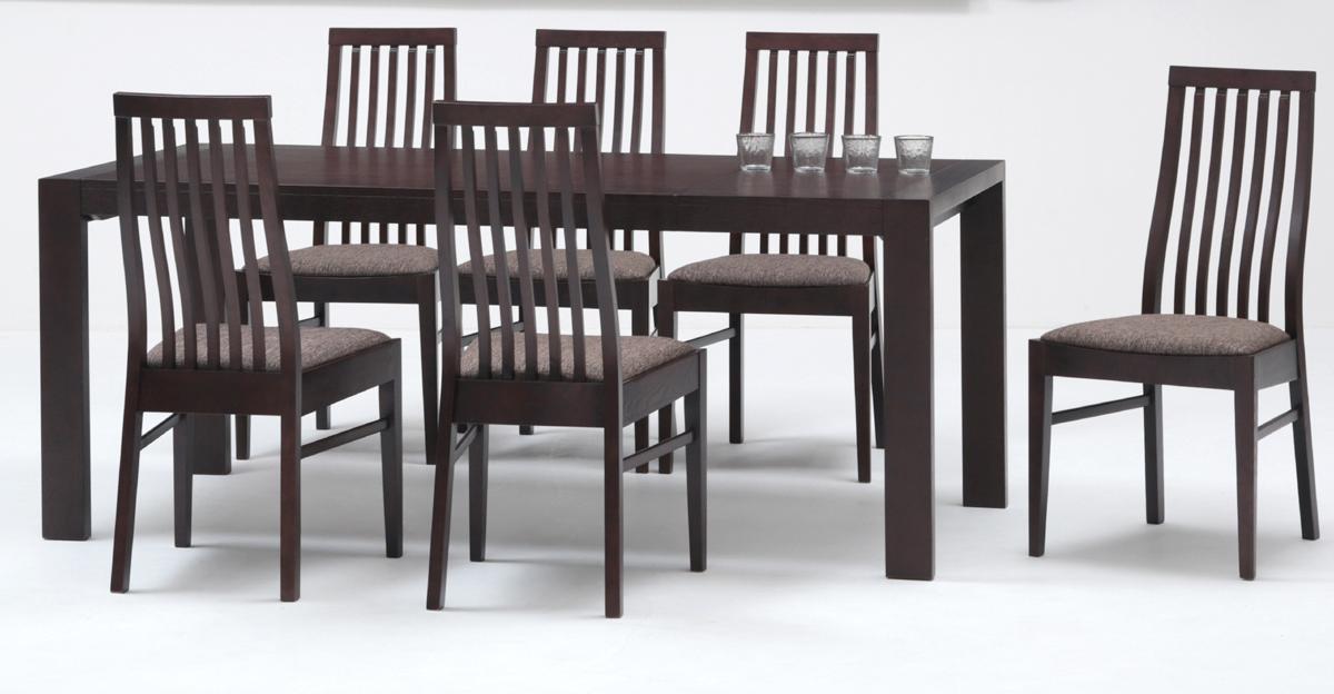 【ZENシリーズ】ダイニング7点セット 伸長式テーブル エクステンション ナチュラル 食卓セット シンプル 布張り・ファブリック ミキモク 送料無料