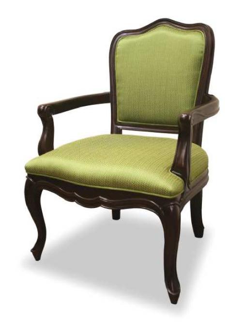 ケントハウス アームチェア 1P椅子 パーソナルソファ 一人掛 アンティーク風クラシック グリーン ヨーロッパ風 姫系家具かわいいロマンティクプリンセス 木製 東海家具