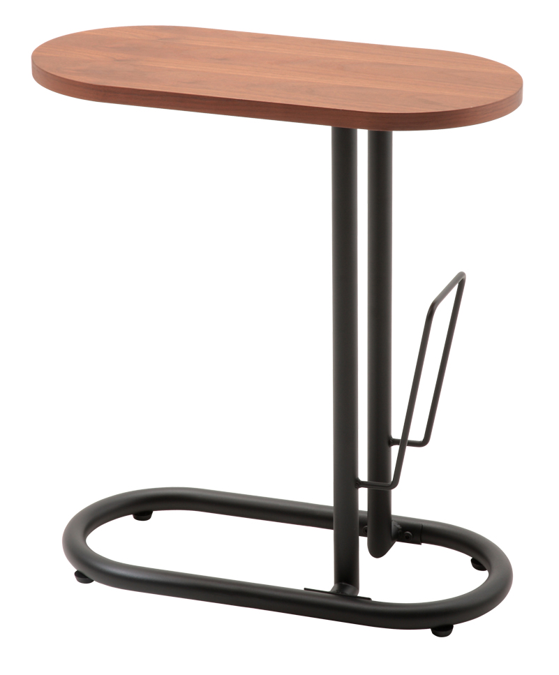 SST-240 ピーク サイドテーブル ソファーテーブル 机 つくえ アジャスター付き ブックスタンド付き 送料無料 家具 あずま工芸