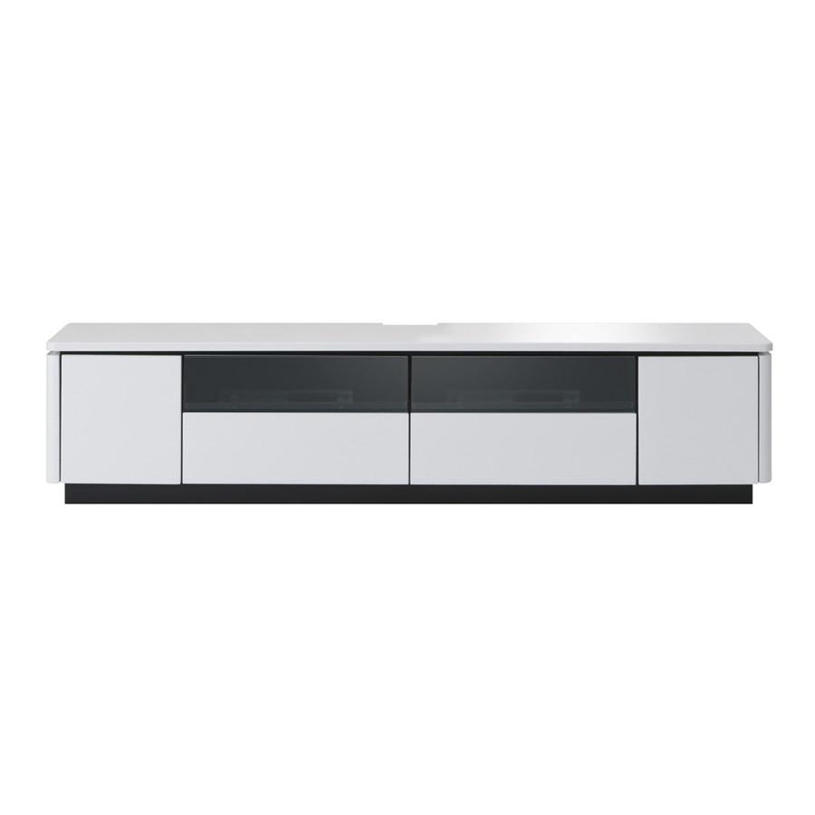 RADN-1602 TVボード テレビ台 ラドゥーニ・ヌーボ鏡面 ブラック ホワイト クール アーバンスタイル 都会的 かっこいい おしゃれ モダン MKマエダ・エムケーマエダ